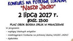 """Miłaczew, Konkurs na potrawę lokalną """"Nasz Jadło"""""""