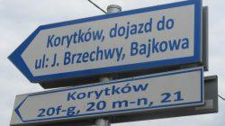 Korytków (gmina Turek) - droga w pobliżu Profim