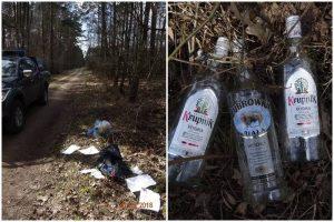 Brudzew. 1500 zł grzywny za wyrzucenie śmieci do lasu