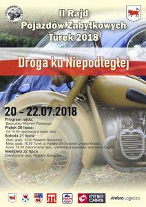Droga ku Niepodległej. II Rajd Pojazdów Zabytkowych Turek 2018
