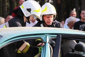 Malanów. Wypadek drogowy? Nie, to pokaz strażacki na festynie w Feliksowie