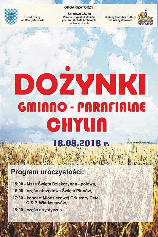 Władysławów. Dożynki gminno-parafialne w Chylinie 2018