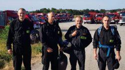 Powrót polskich strażaków ze Szwecji
