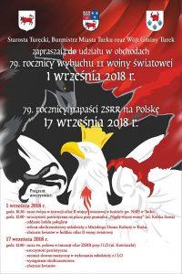 Turek. 79. rocznica wybuchu II wojny światowej oraz 79. rocznica napaści ZSRR na Polskę