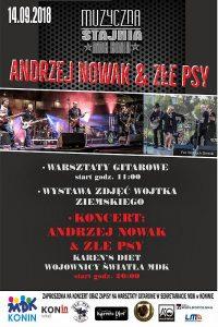 Konin. Warsztaty gitarowe z Andrzejem Nowakiem z TSA