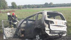 Pożar auta na trasie Smulsko-Boleszczyn