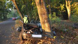 Służby ratowniczo-medyczne stwierdziły zgon kierowcy.