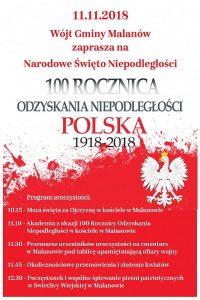 Malanów.Obchody Narodowego Święta Niepodległości