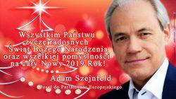 Boże Narodzenie 2018. Życzenia od Adama Szejnfelda