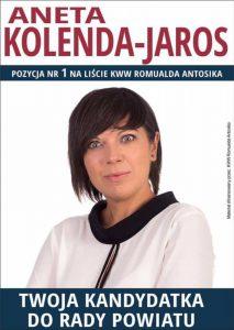 Aneta Kolenda-Jaros (ulotka wyborcza)