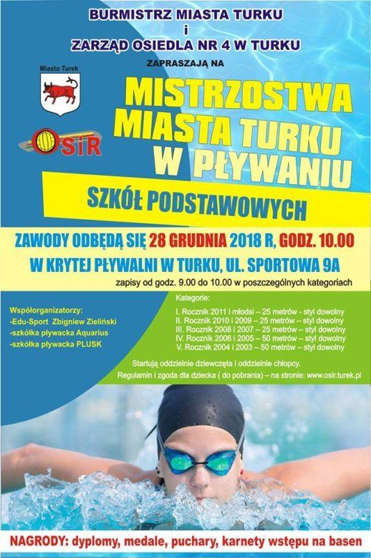 Mistrzostwa Miasta Turku w Pływaniu SP