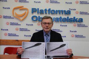 Turek. Konferencja prasowa posła Tomasza Nowaka