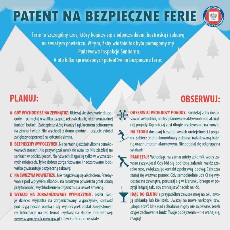 Patent na bezpieczne ferie