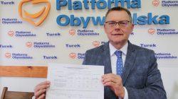 Konferencja prasowa posła Tomasza Nowaka