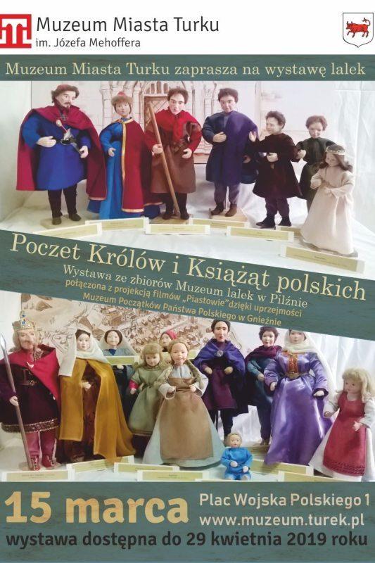 """Turek. Wystawa """"Poczet królów i książąt polskich"""""""