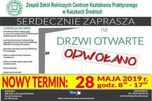 Zmiana terminu Drzwi Otwartych w ZSR CKP Kaczki Średnie