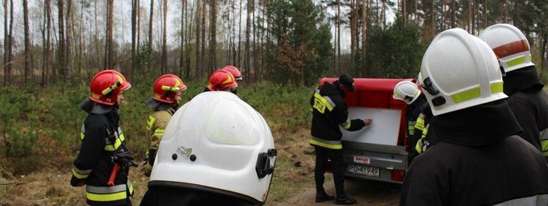 Ćwiczenia. Gaszenie pożaru lasu