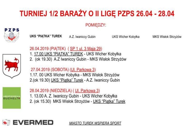 Turek. Turniej o 1/2 baraży o II ligę PZPS