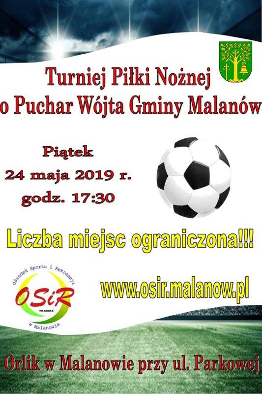 Turniej Piłki Nożnej o Puchar Wójta Gminy Malanów