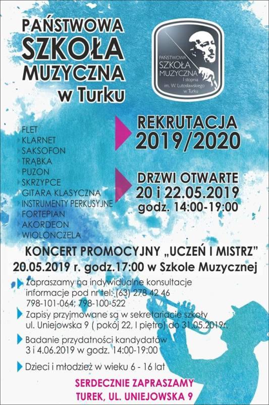 Turek. Drzwi otwarte w Państwowej Szkole Muzycznej