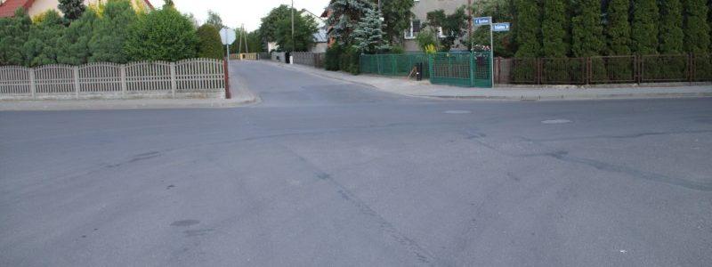 Brudzew. Skrzyżowanie ulic Szkolna, Ogrodowa Turkowska