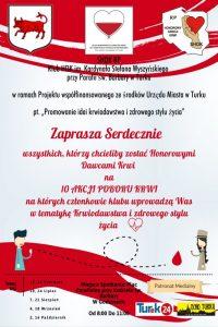 Promocja idei krwiodawstwa i zdrowego stylu życia