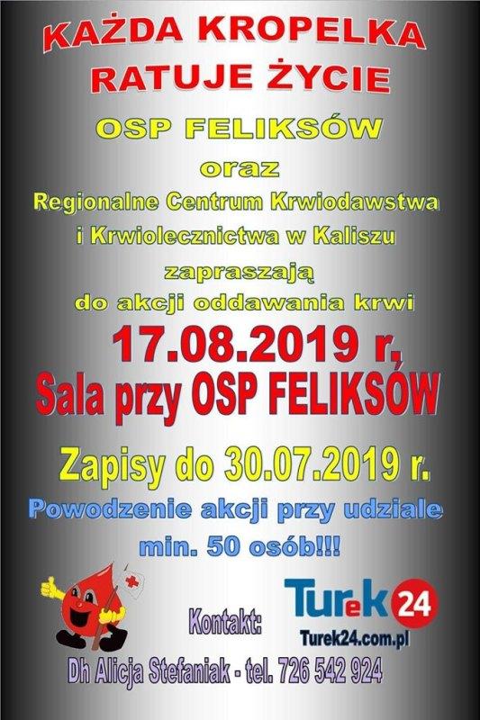 OSP Feliksów. Zbiórka krwi