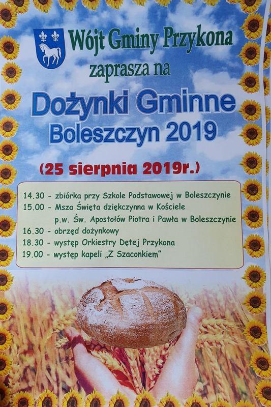 Przykona. Dożynki gminno-parafialne w Boleszczynie