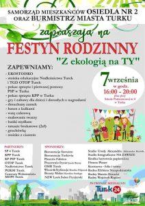 """Festyn Rodzinny """"Ekologią na TY"""""""