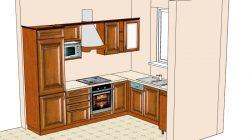 Sprzedam dom w Obrzębinie - projekt kuchni