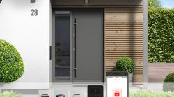 fot. Biometryczna kontrola dostępu w drzwiach wejściowych