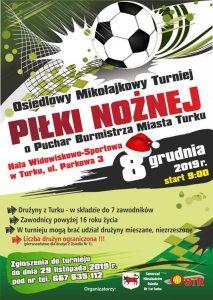 Turek. Osiedlowy Mikołajkowy Turniej Piłki Nożnej