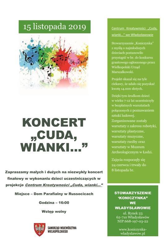 """Władysławów. Koncert """"Cuda, wianki…"""""""