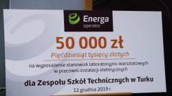 ZST Turek otrzymał 50 tys. zł od Energa na wyposażenie laboratorium