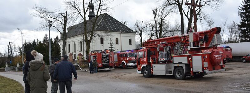 Pożar w parafii Trójcy Świętej w Skęczniewie