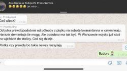 Koronawirus a fake newsy. Policja apeluje o ostrożność