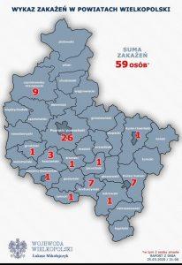 Koronawirus w Wielkopolsce - stan na 25.03.2020 r.