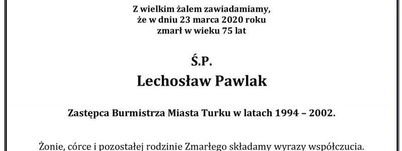 Lechosław Pawlak nie żyje
