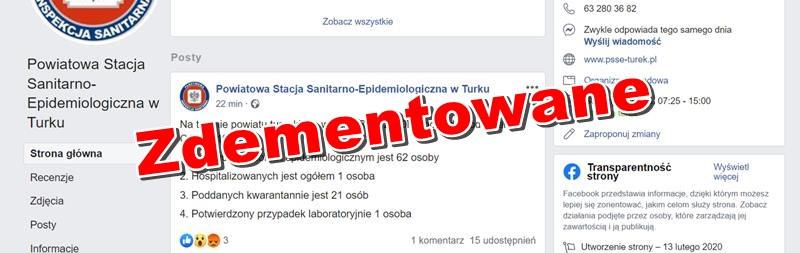 Koronawirus w Turku? Sanepid potwierdza i ... dementuje