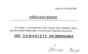 Targowisko Folusz-Cisew zamknięte