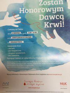 Plakat HDK na 100-lecie Sanktuarium w Galewie