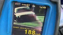 prędkościomierz - 188 km/h