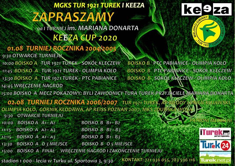 I Turniej im. Mariana Donarta - harmonogram spotkań (plakat)