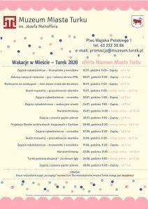 Wakacje 2020. Oferta Muzeum Miasta Turek