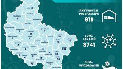 Aktywne przypadki Covid-19 w Wielkopolsce - stan na 31.07.2020 r.