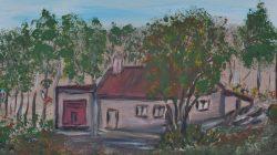 Urokliwe zakątki wsi Bibianna w plenerze malarskim