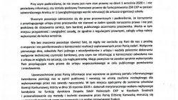 Oświadczenie wicedyrektorów ZSR CKP w Kaczkach Średnich