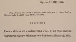 Ryszard Bartosik wiceministrem rolnictwa