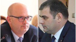 od lewej: starosta Kałużny, radny Seńko (2020)