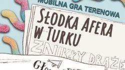 """Mobilna gra terenowa """"Słodka chwila w Turku"""" (plakat)"""